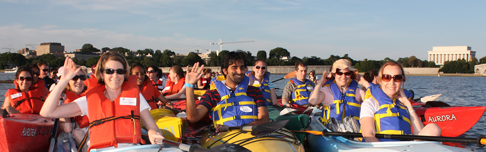 Georgetown Sunset Kayaking: Enjoy Spectacular Views of the DC Skyline and Monuments on Sunday, July 24, 2016 at 5:00 PM